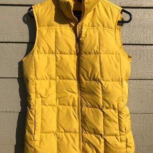 Lands end yellow down vest